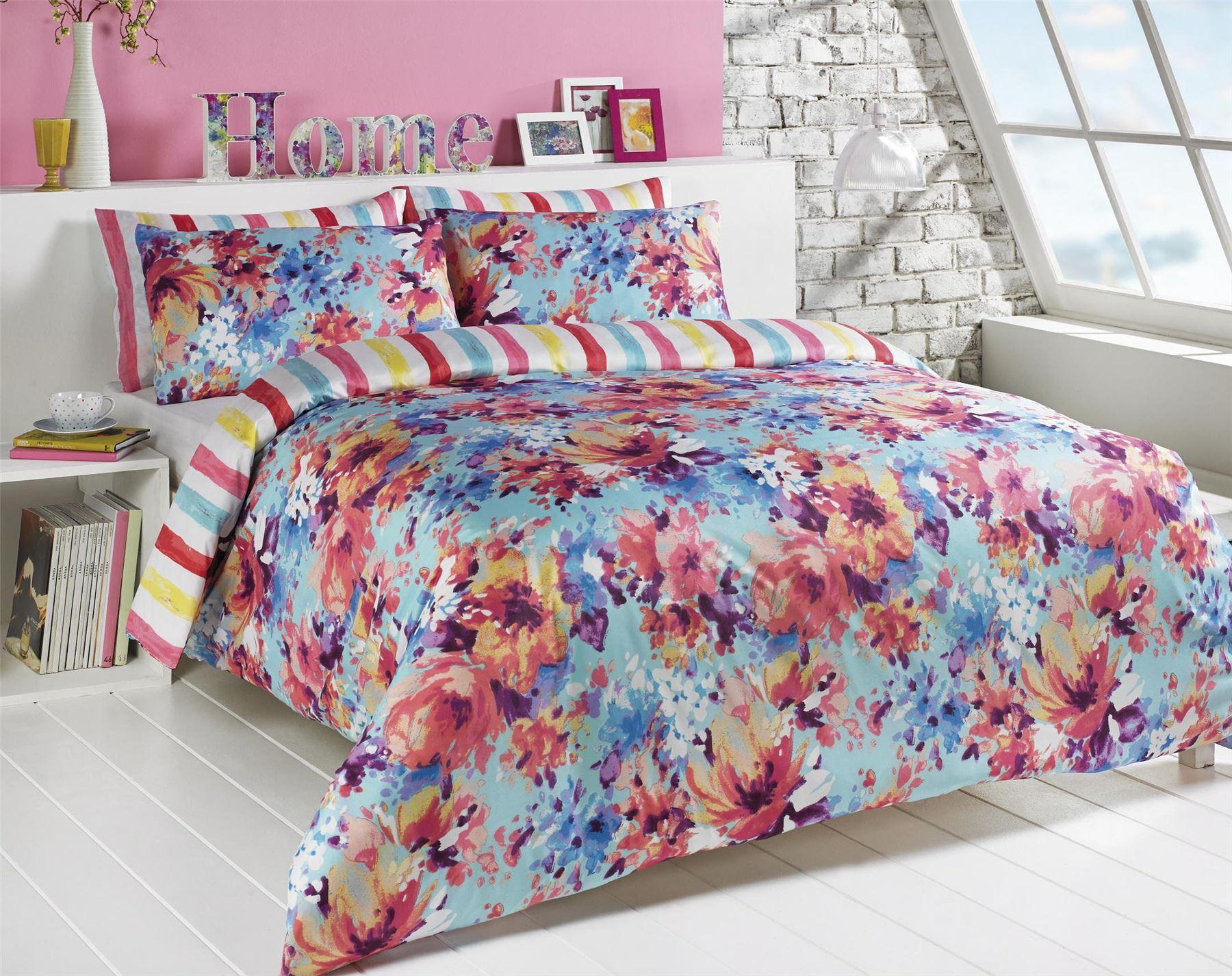 Duvet Bed Pillowcase Bedding Reversible Quilt Case Cover
