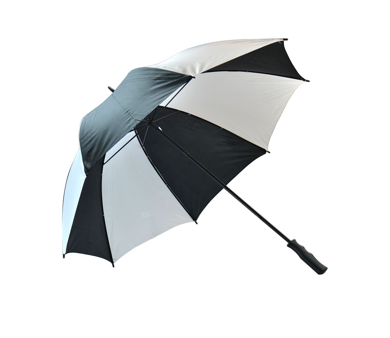 Unisex large golf umbrella windproof canopy rain sun for Canopy umbrella
