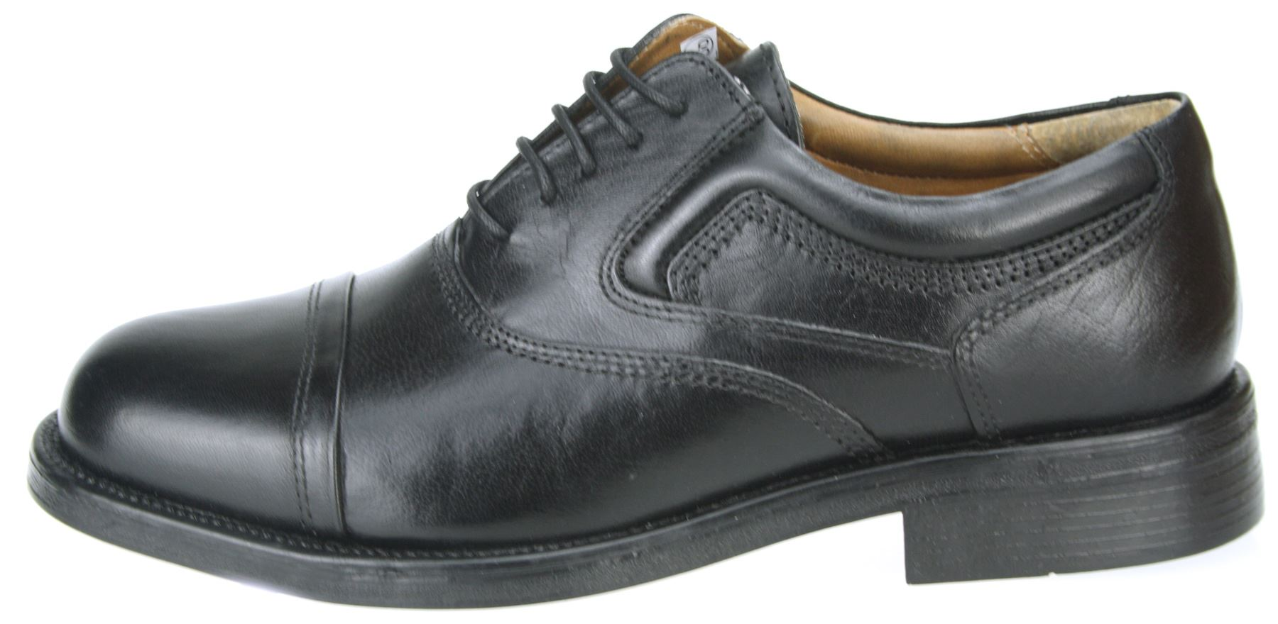 oaktrak stonebridge oxford cap black leather toe