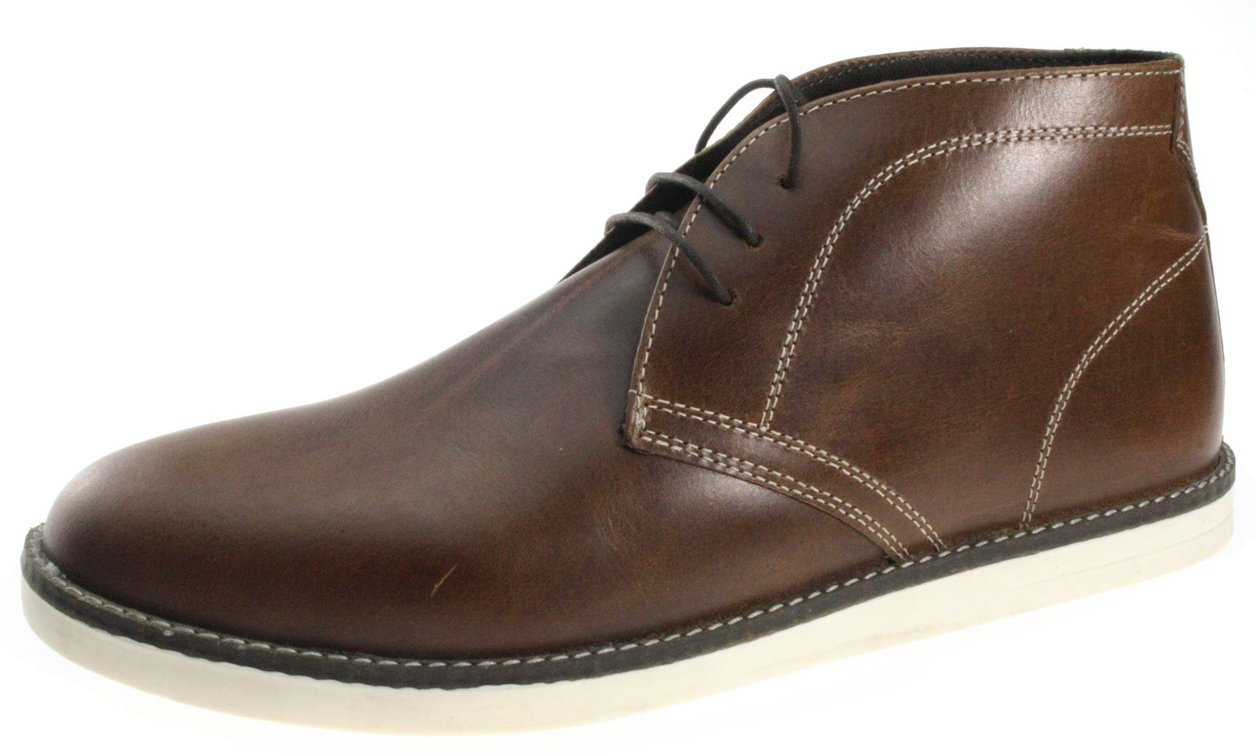 Mens Red Tape Crumlin Real Leather Lace Up desert boots ...