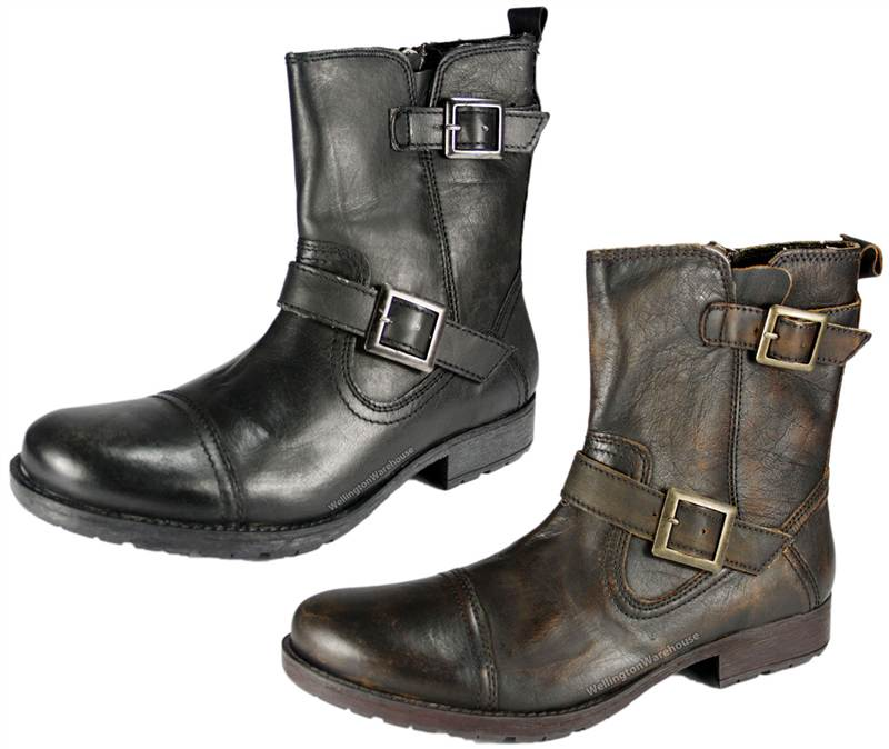 mens redtape haddington black or brown leather ankle boots
