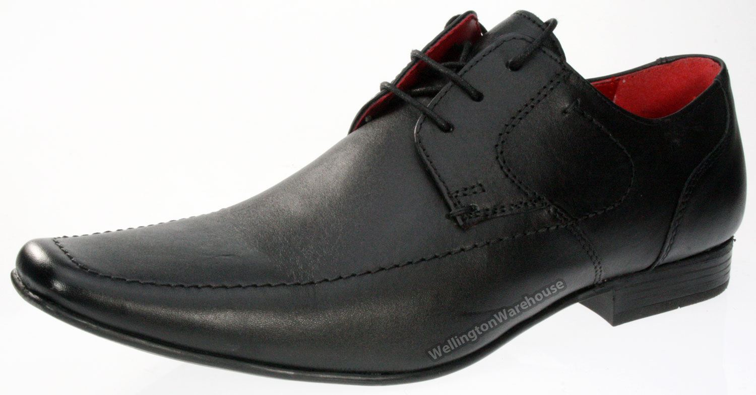 Black Real Leather Mens Casual Formal Shoes CLEARANCE SALE 7-12 | eBay