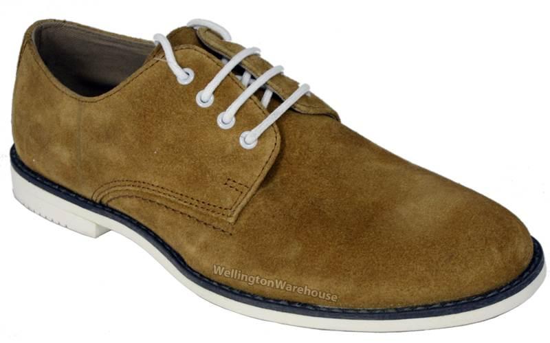 Red Tape - Zapatos de cordones para hombre Beige arena E8quEg