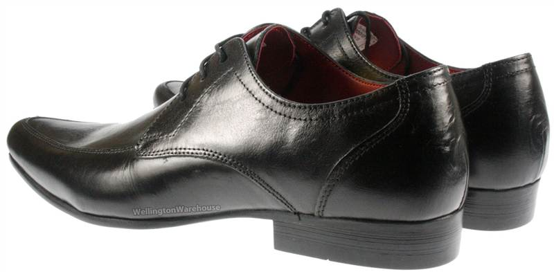 Formal-Mens-Redtape-Hollins-Dark-Brown-Leather-Lace-up-pointy-toe-Shoes-UK-7-12