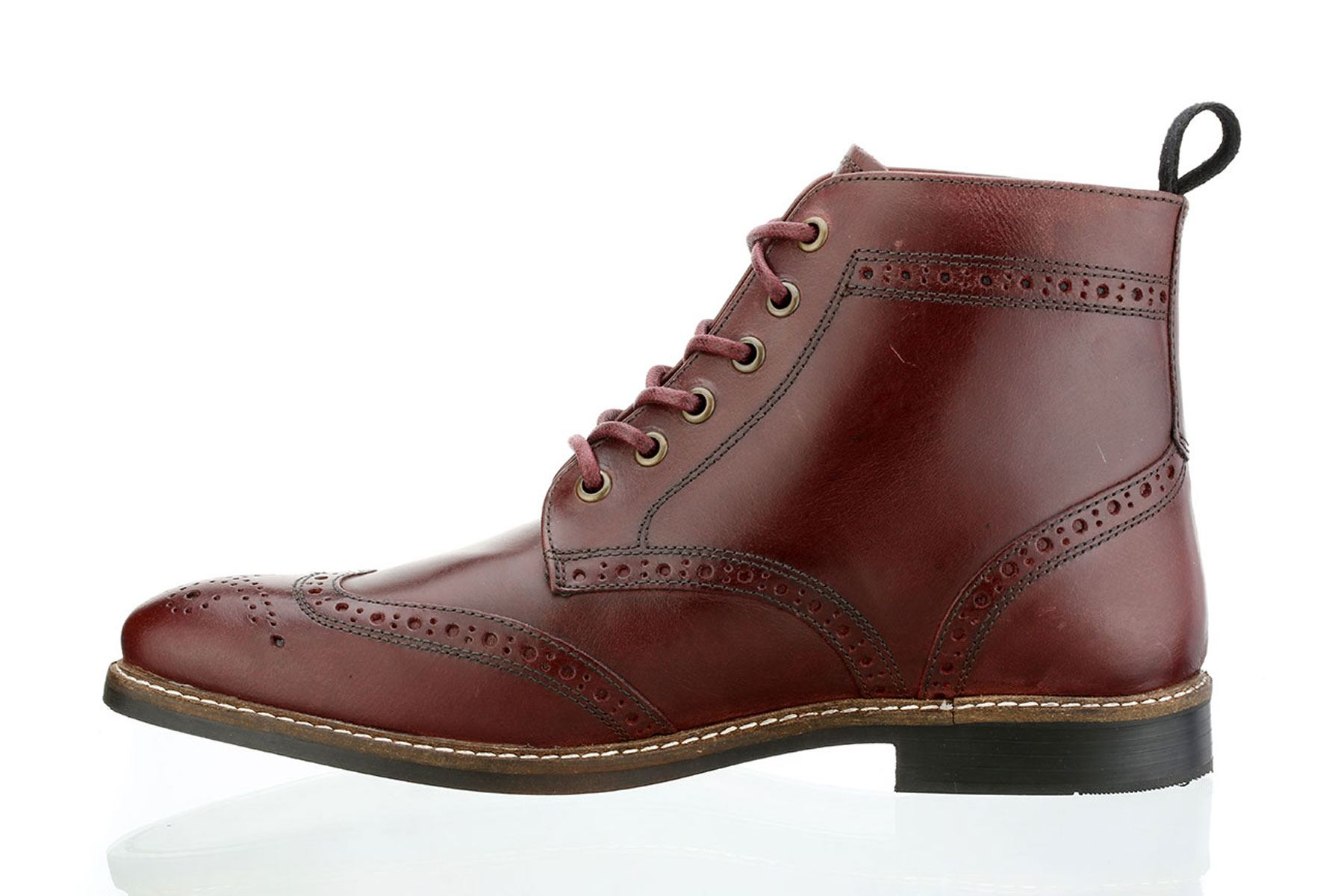 Red Tape Mens Brogue Fashion Round toe Lace Up Leather ...
