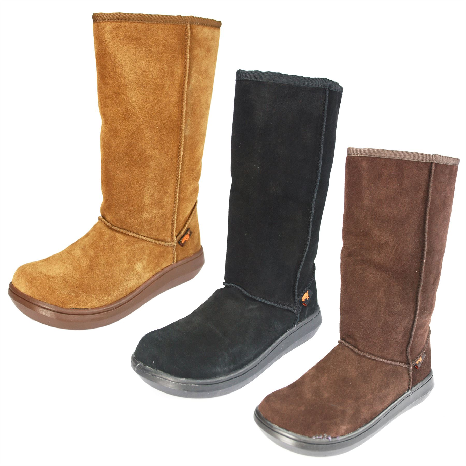 rocket womens sugar suede leather boots