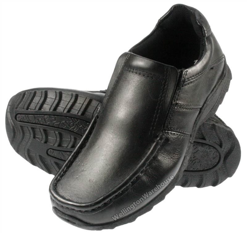 Kids Red Tape Ratcliffe Black Boys Junior Leather School Shoes | eBay