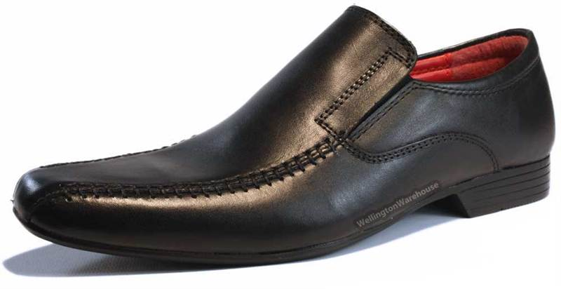 Red Tape Wortley Kids Leather Black or Brown Slip on Formal Shoes