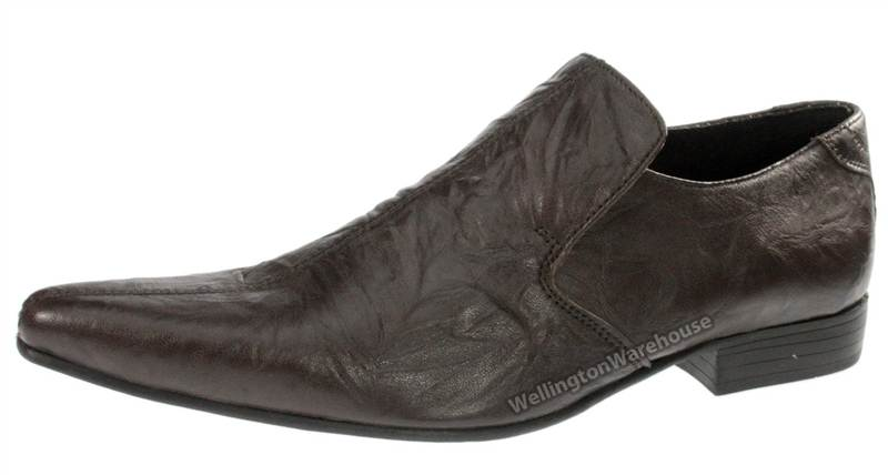 longford brown leather pointed toe pointy mens