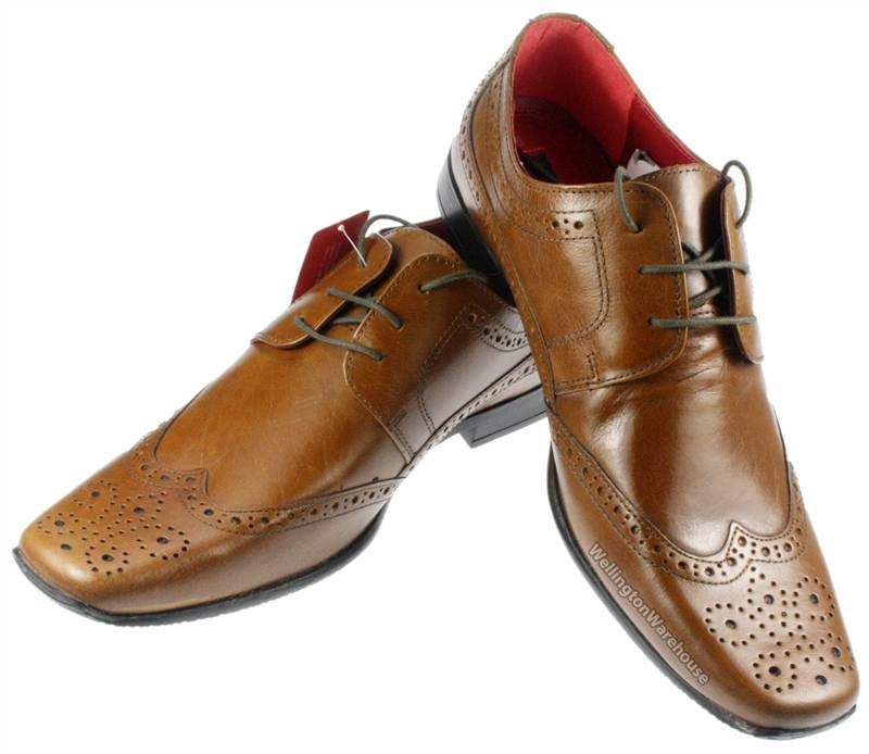 mens pointy square toe lace up real leather formal mens