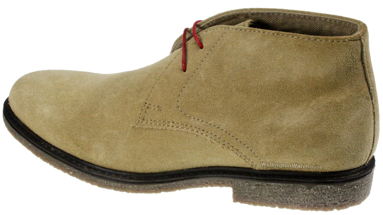 navy desert suede leather lace up mens chukka