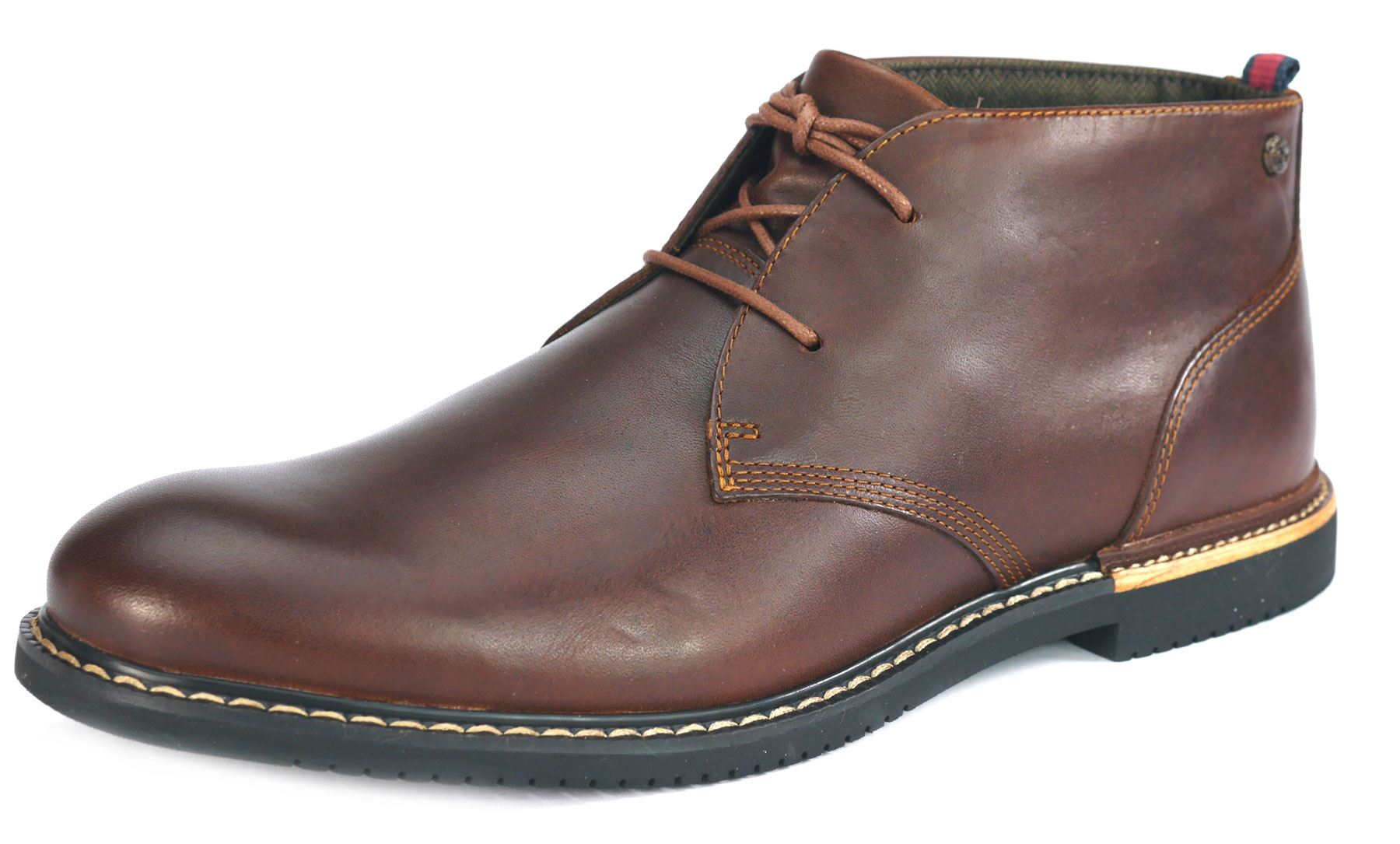 timberland brook 5513a mens brown leather lace up chukka desert boots ebay. Black Bedroom Furniture Sets. Home Design Ideas