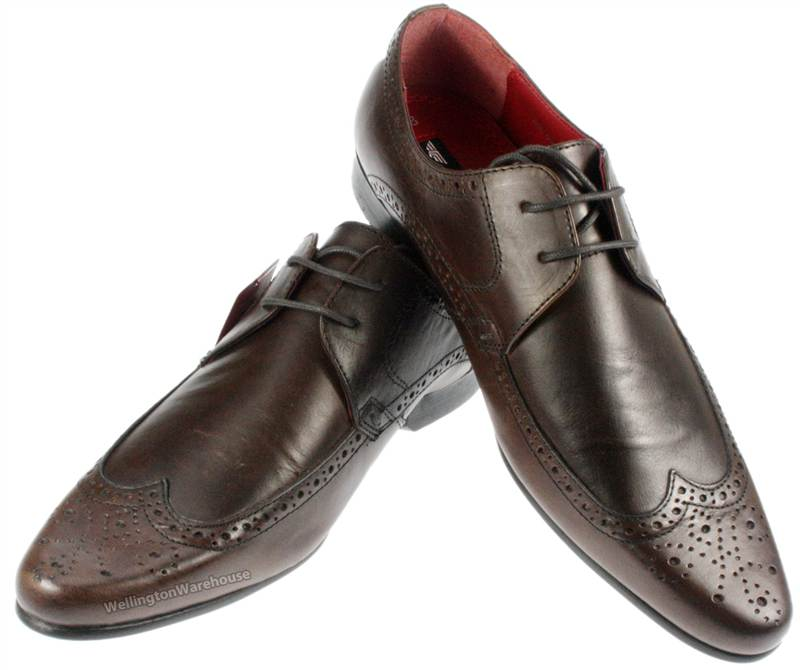 Red Tape Brown Leather Shoes Polish