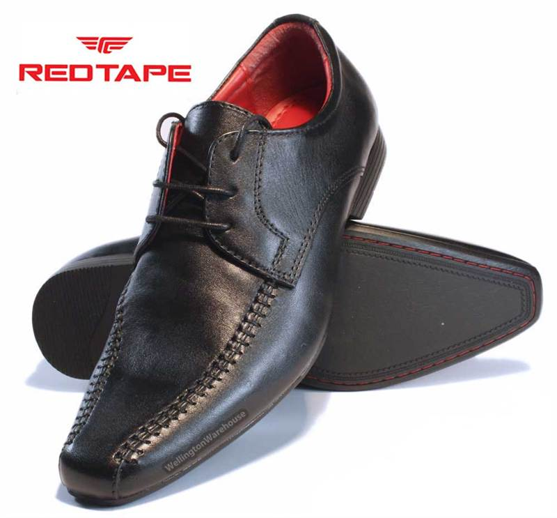 redtape farnley junior boys black or brown leather