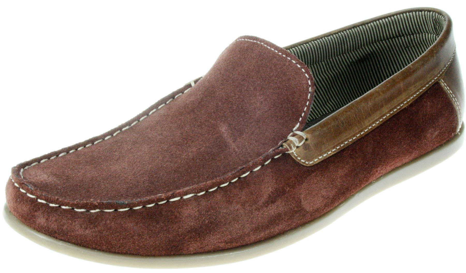 Mens Red Suede Boat Shoes