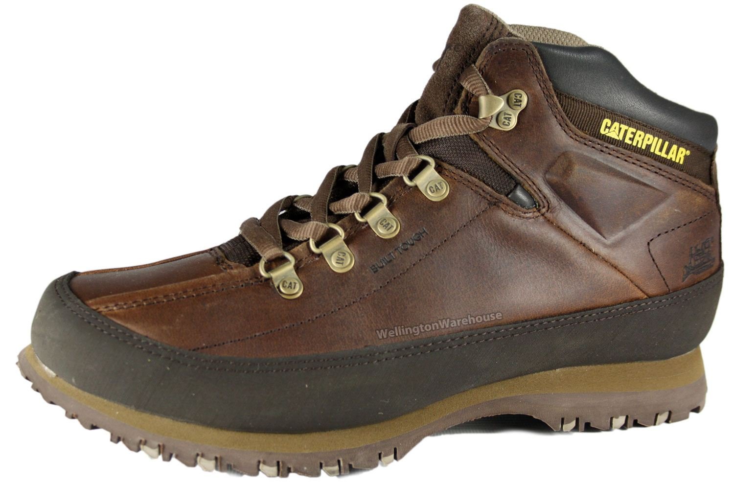 caterpillar mens brown restore lace up leather boot size