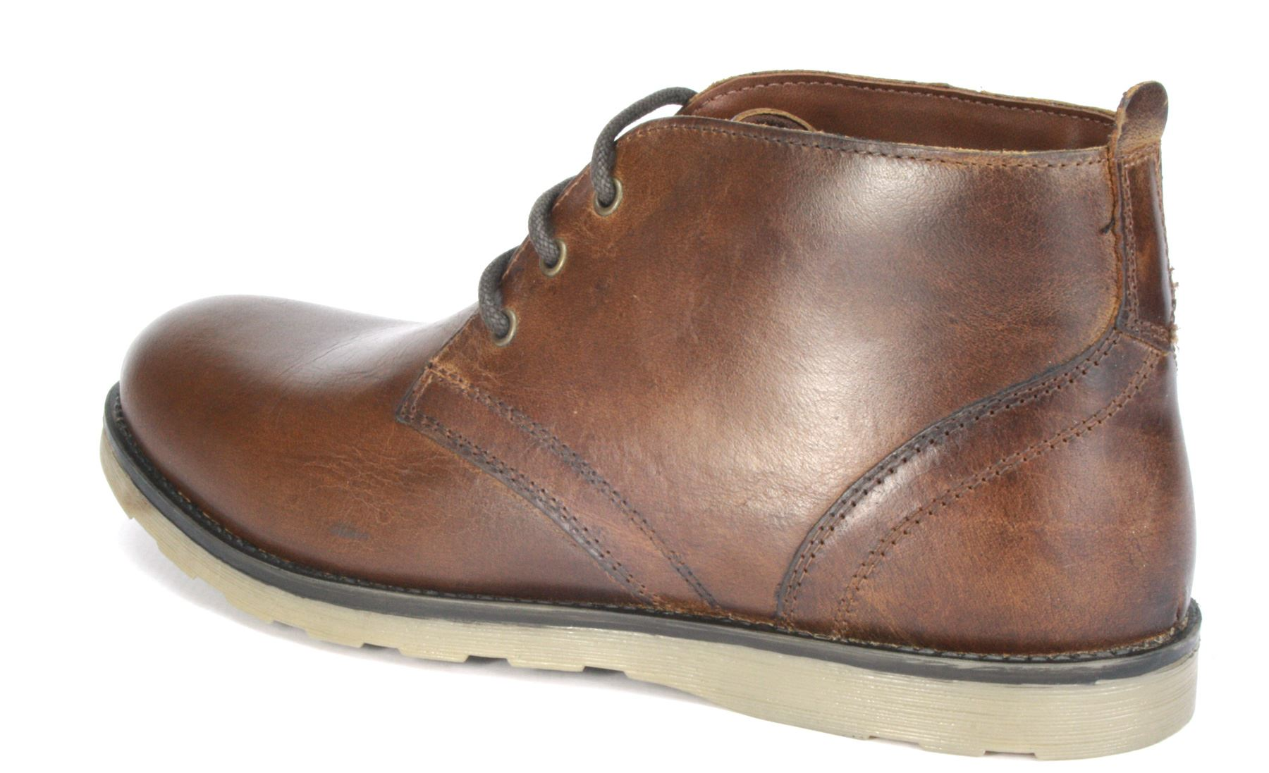tiffey brown real leather lace up desert