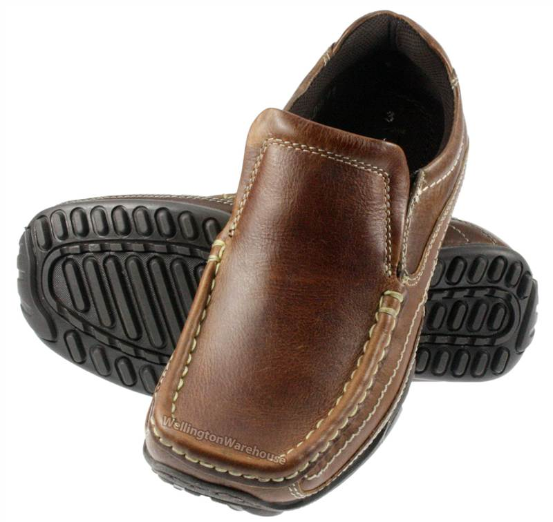Red Tape Tilmore Brown Boys Casual Junior Leather School Shoes | eBay