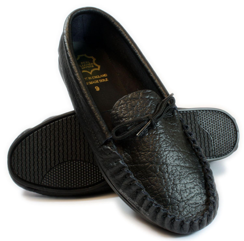 Leather Moccasins Mens Mens-black-leather-moccasins