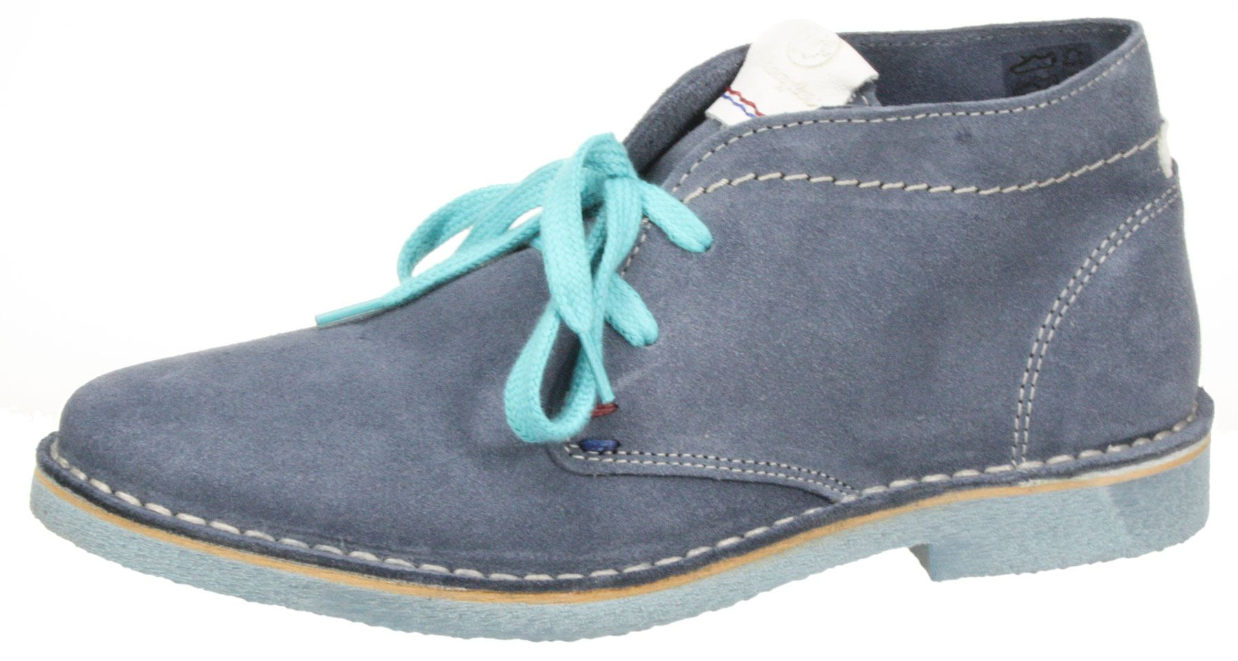 Wrangler Ladies leather suede Blue Churlish lace up desert ankle boots