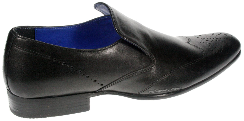 talla black brown leather slip on smart brogue