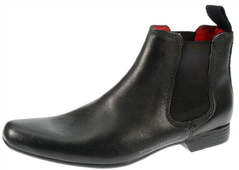 Garforth Leather Pointed Toe Black Boots UK 1-6