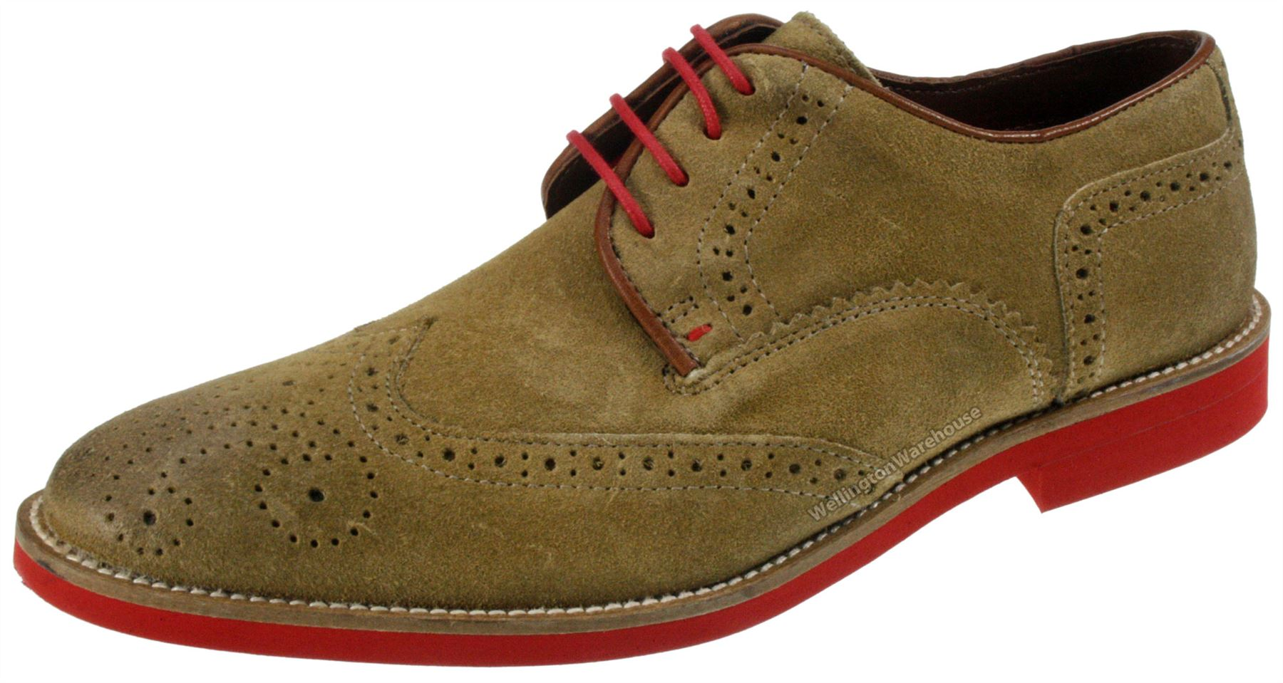 Red Tape Mens Brogue Desert Suede Leather Lace Laxford ...