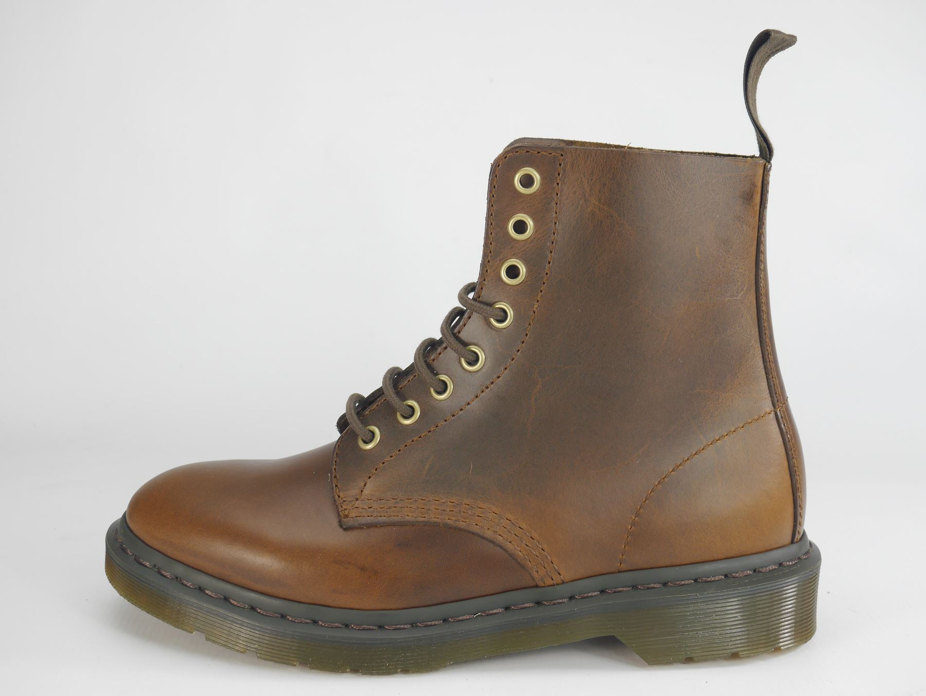 Zapatos especiales con descuento Dr Martens Pascal 8 Eye 1460 Brown Oxblood Lace Up Ladies Boots