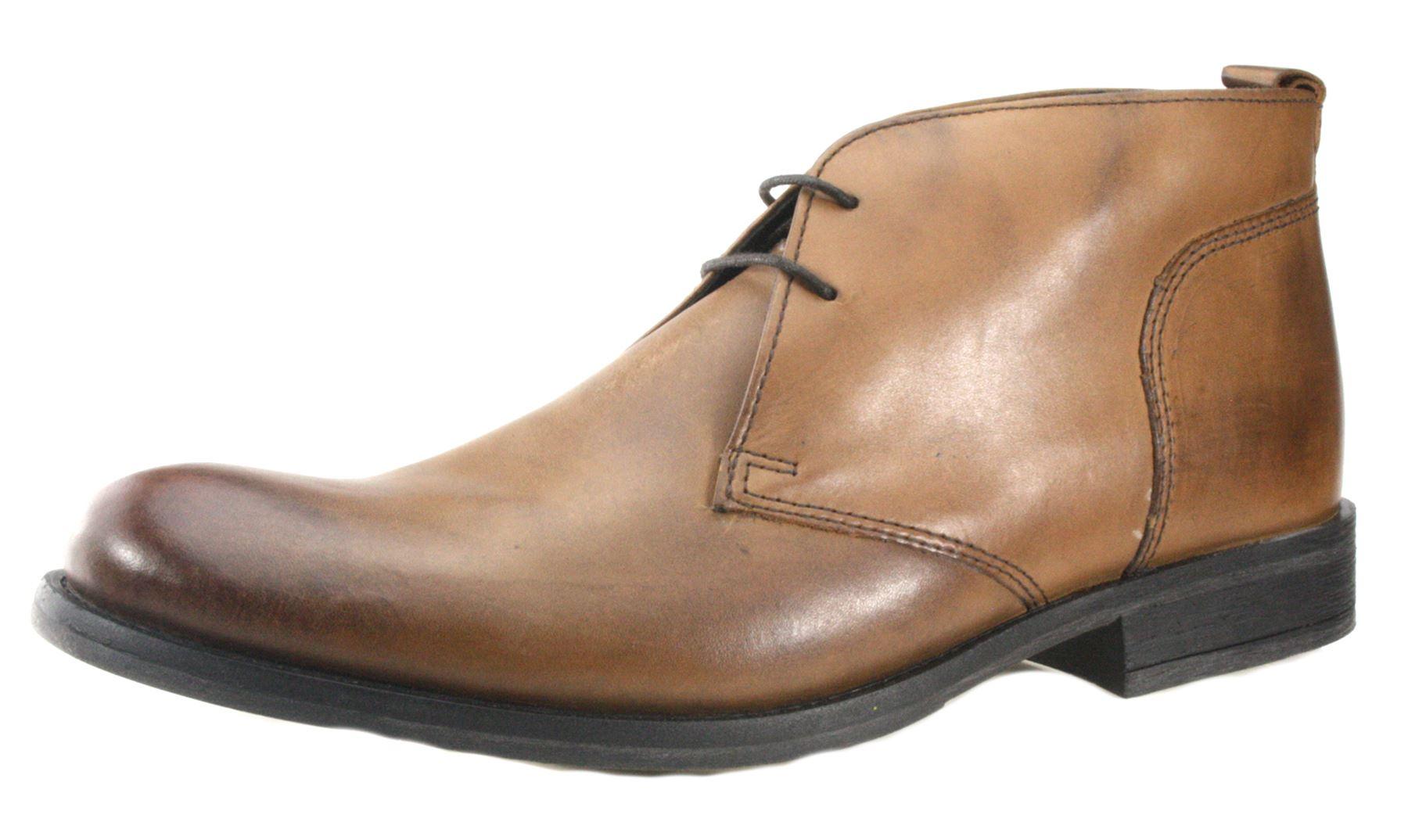 Base London Lacci Chukka Pizzo BOOTS DESERT BOOTS Pizzo vera pelle colore marrone nero d748ec