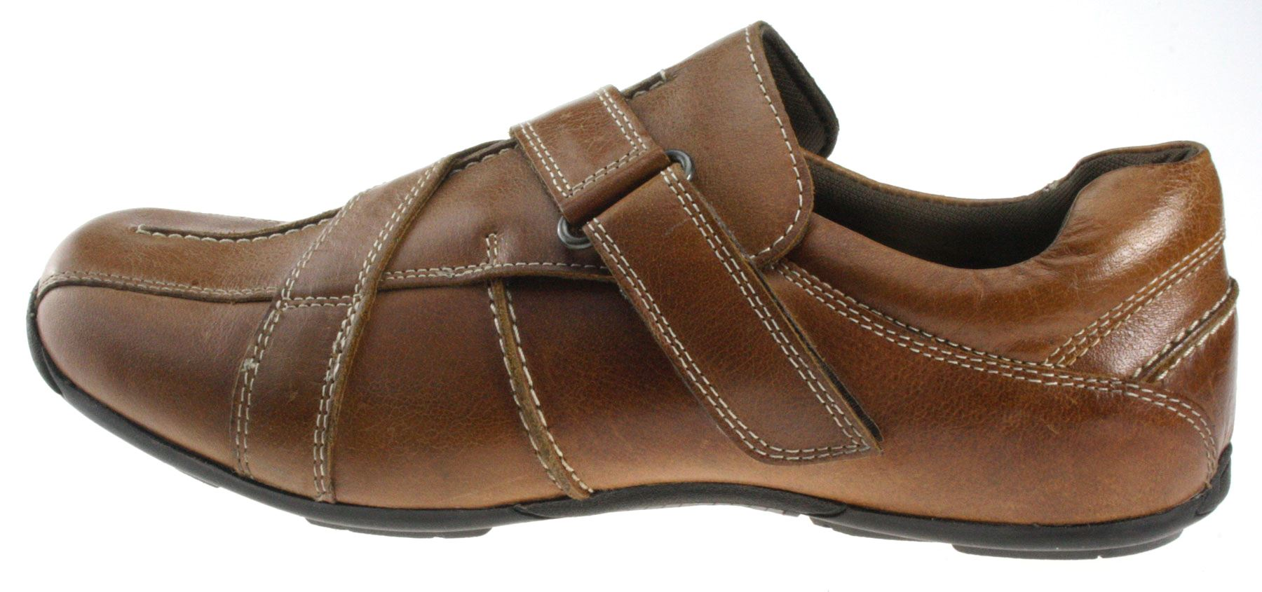Mens Velcro Shoes Brown