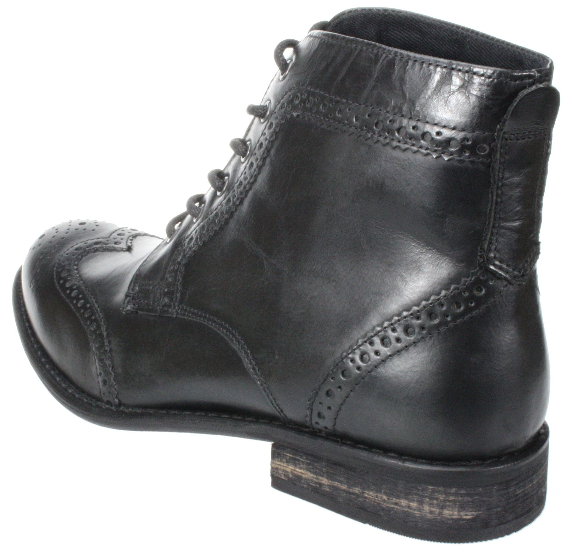 mens nant black brown lace up leather brogue