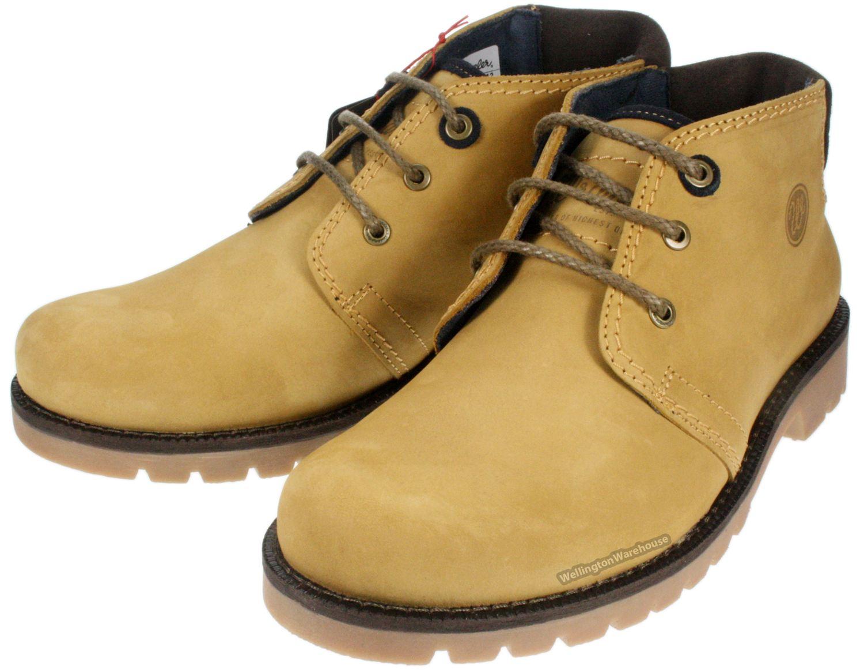 Wrangler Newton brown tan mens leather lace up chukka boots | eBay