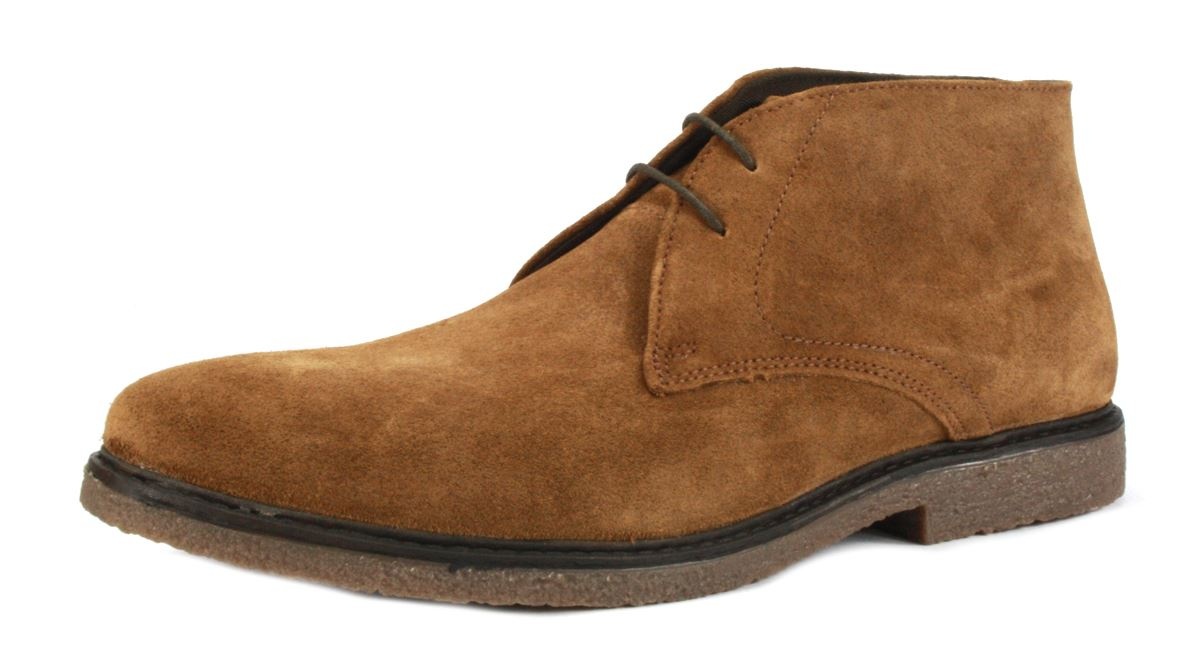 These Augusta brown suede classic men's chukka boots are crafted from the finest suede upper and durable Ferrersmere rubber sole for a comfortable feel and fit. It is a quality casual style of men's footwear that add style to a pair of jeans or can be used to complement a pair of chinos for a relaxed yet smart look for the office.