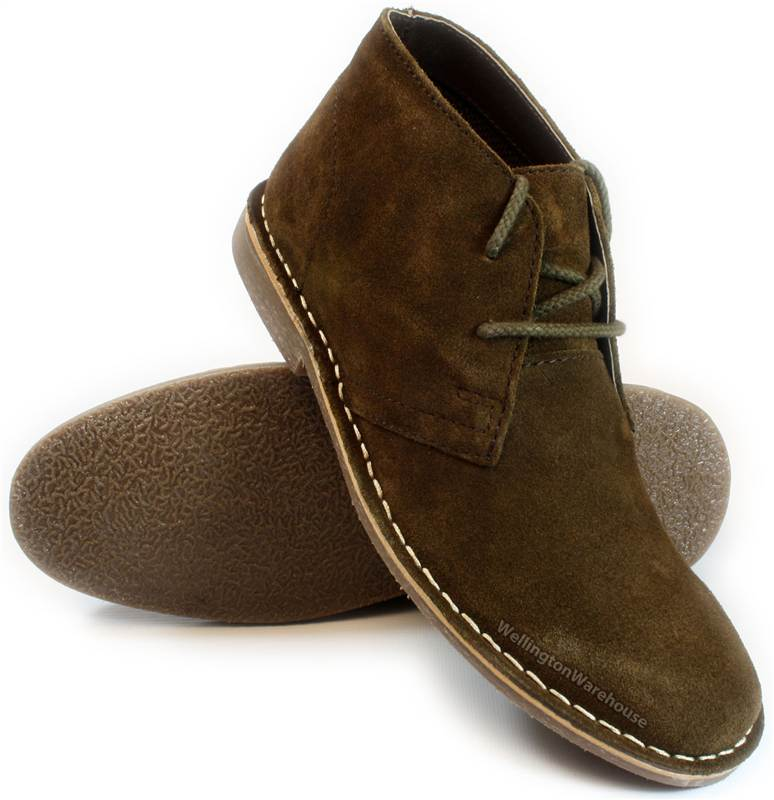Red Tape Dark Chocolate Brown Lace up Mens Suede Leather desert ...