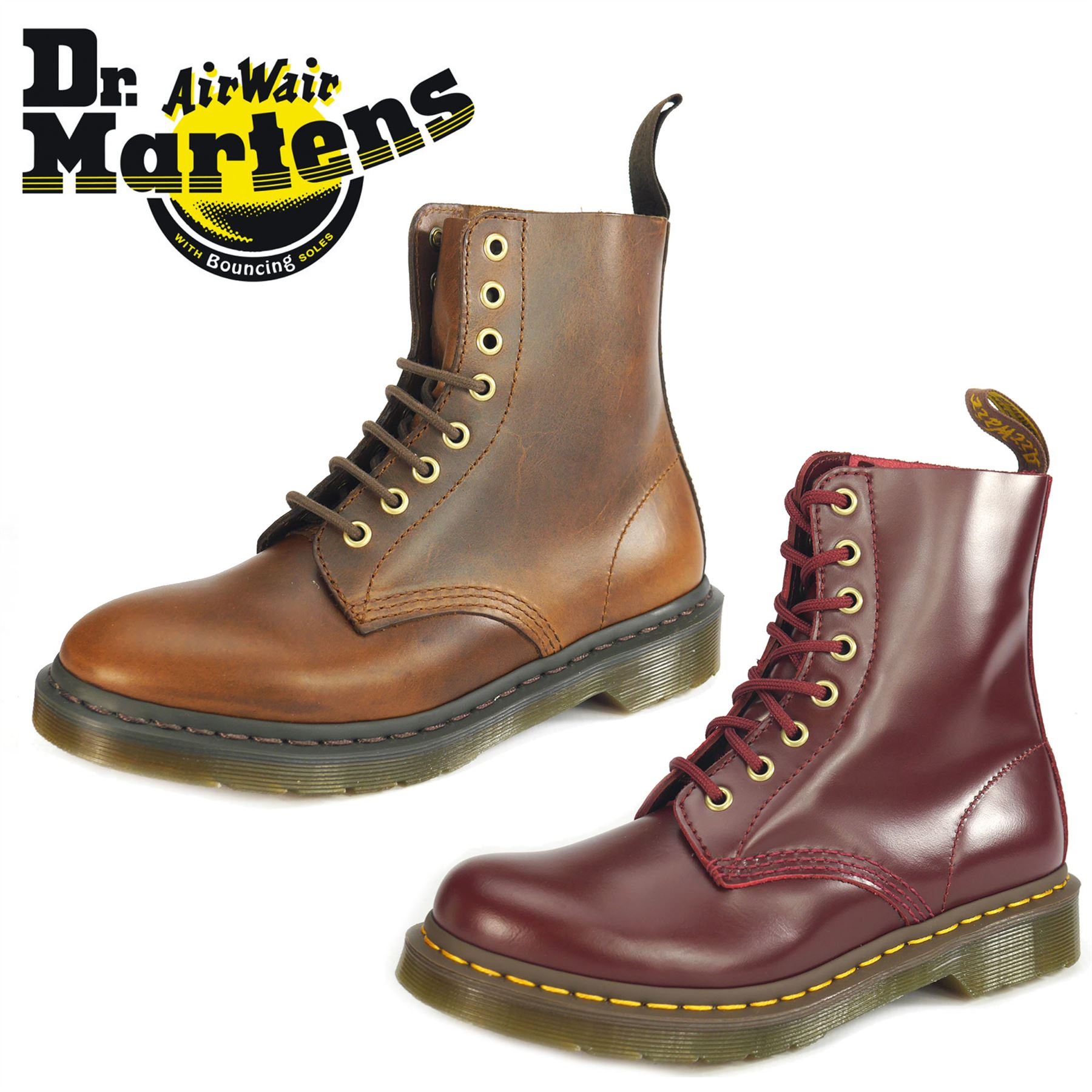 dr martens pascal 8 eye 1460 brown oxblood lace up ladies boots ebay. Black Bedroom Furniture Sets. Home Design Ideas