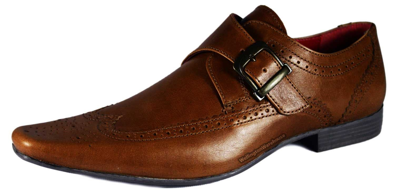 hammond brown leather brogue monk pointy toe