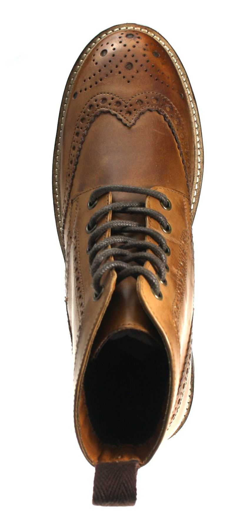 devlin high quality cleated real leather lace up