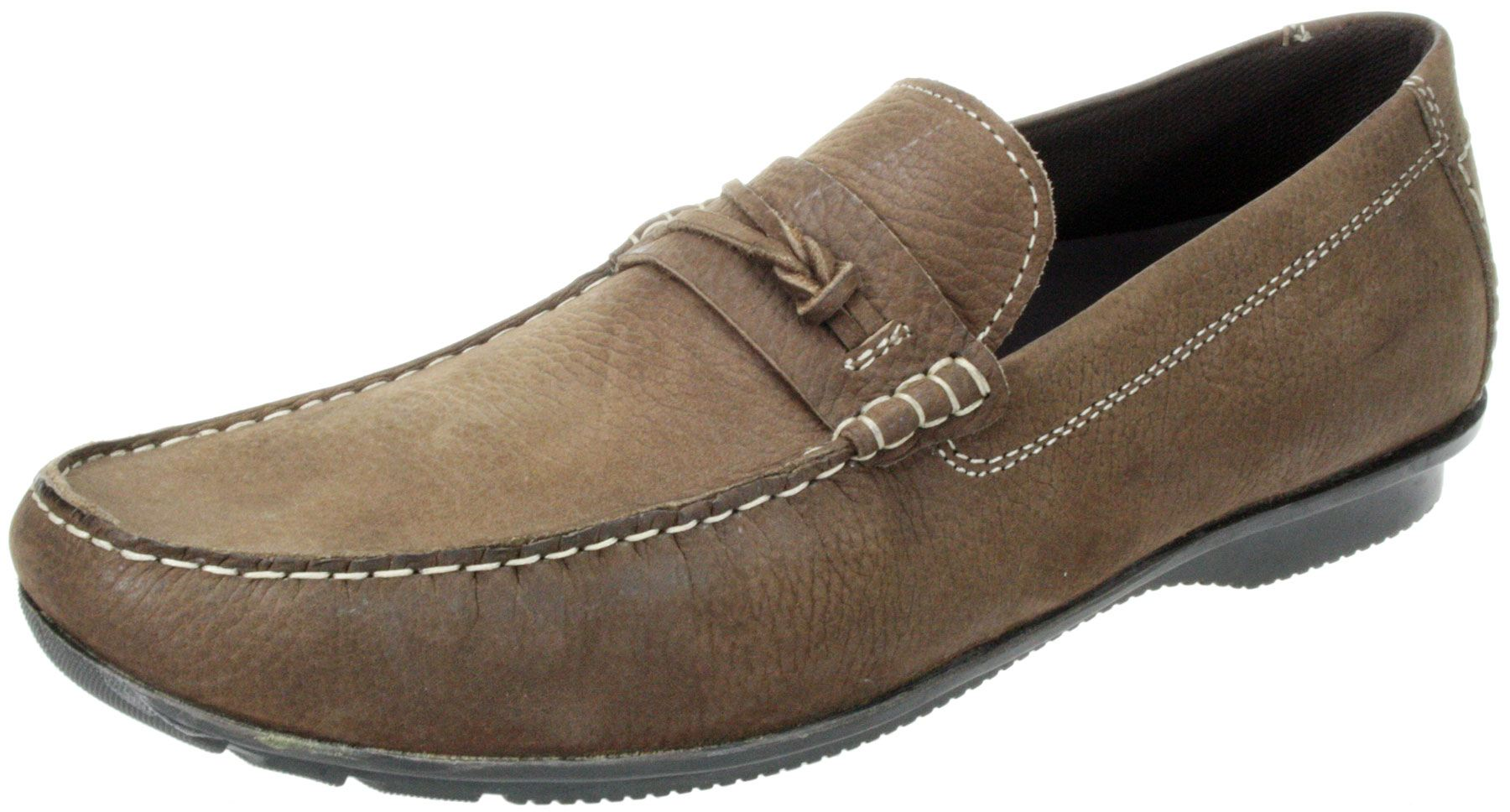 mens soft real leather moccasin casual shoes ebay