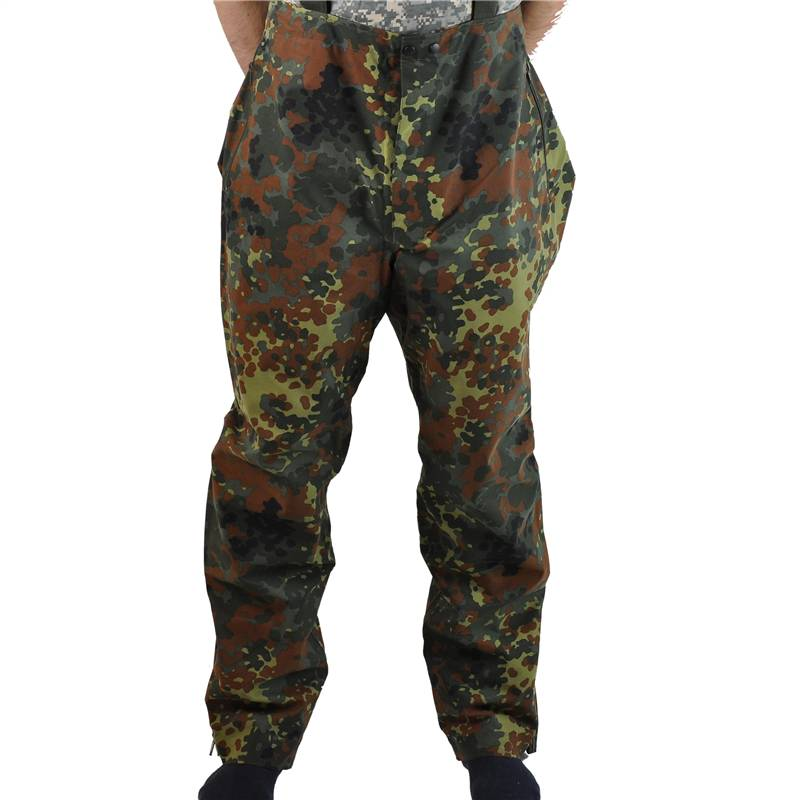 GERMAN-ARMY-FLECKTARN-GORETEX-OVERTROUSERS-WITH-BIB-AND-BRACE