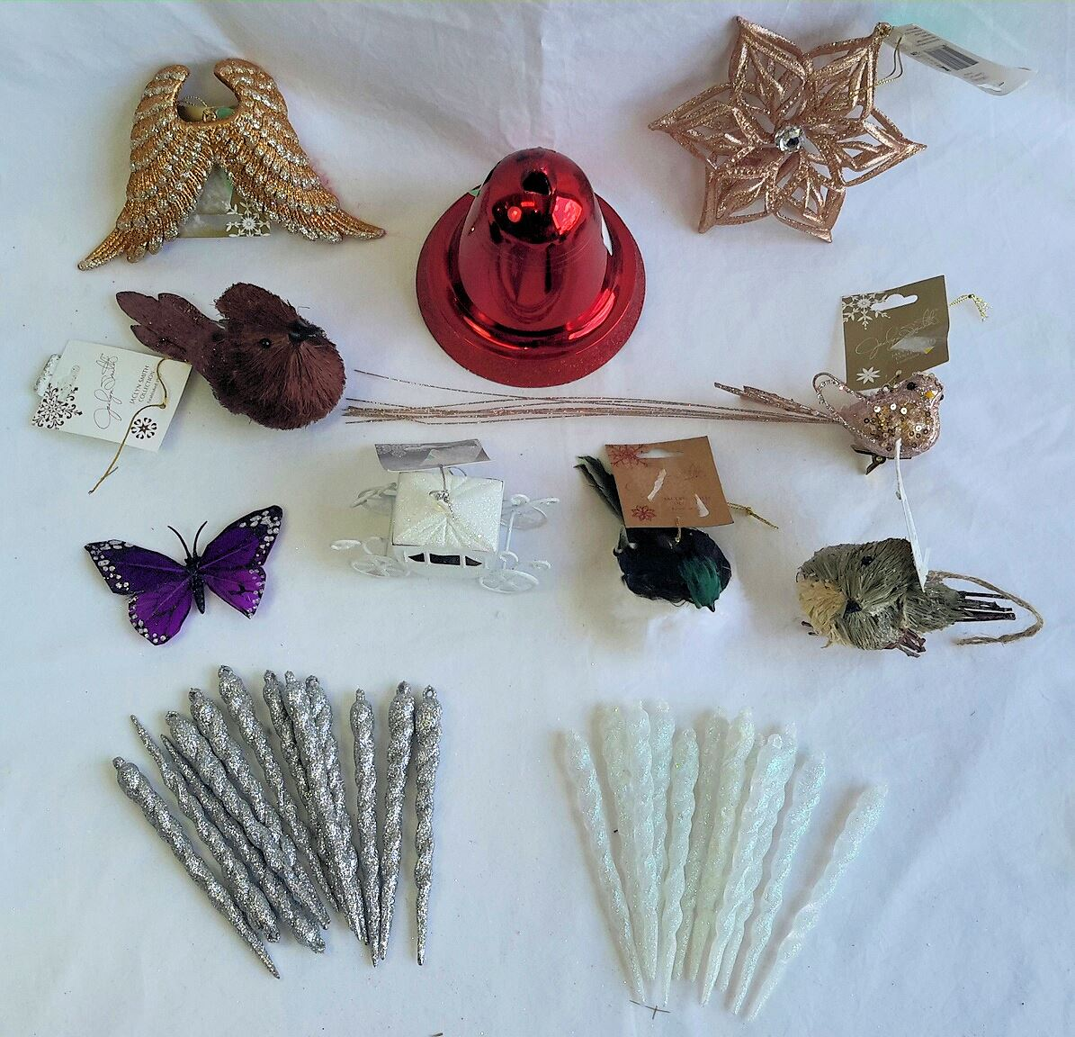 Wholesale Resale Lot Of 36 Holiday Christmas Ornaments
