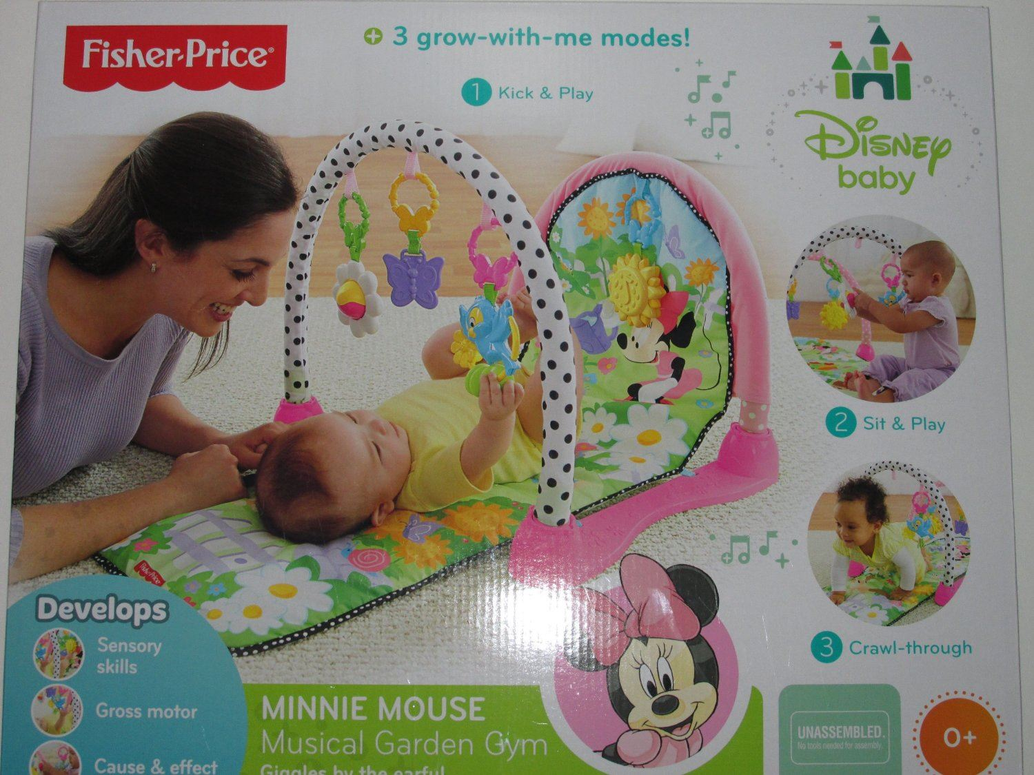 Fisher Price Disney Minnie Mouse Kick Amp Play Crawl Musical