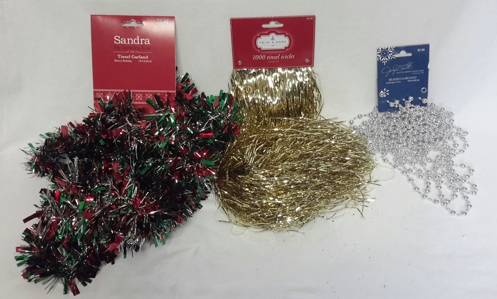 Wholesale Resale Lot of 21 Christmas Tree Garland Tinsel Icicles ...