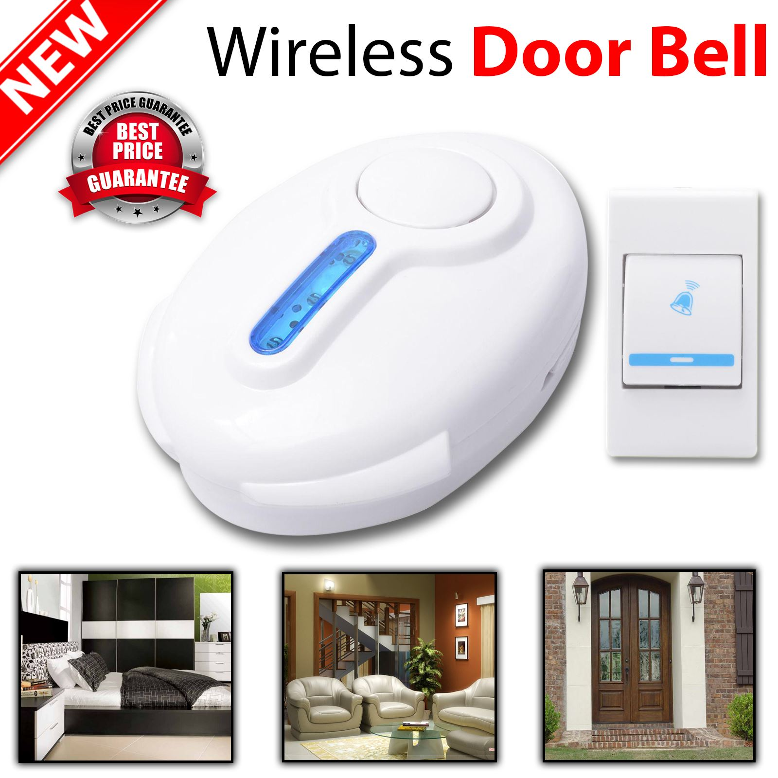 new digital wireless portable door bell 150m range 36