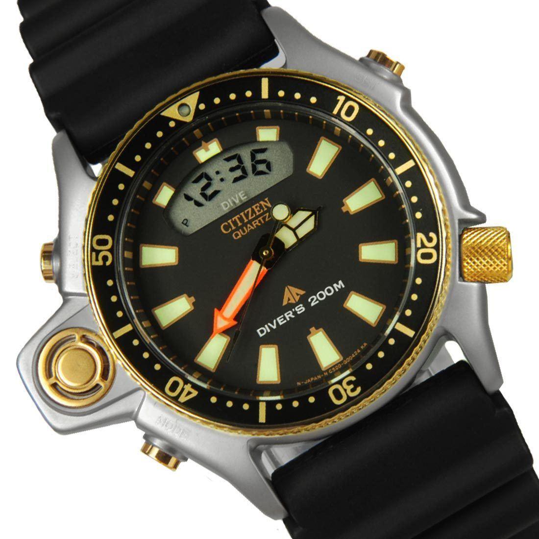 Citizen promaster aqualand depth meter diver watch jp2004 07e jp2004 jp2004 07 ebay - Citizen promaster dive watch ...