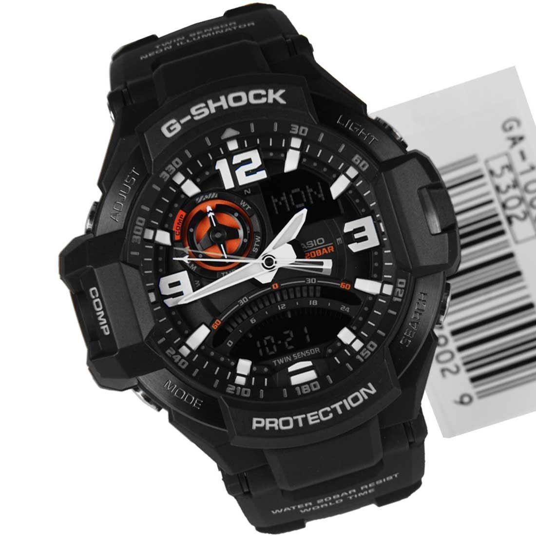 casio analog digital g shock sport mens watch ga 100 1a4 ga 1000 casio analog digital g shock sport mens watch