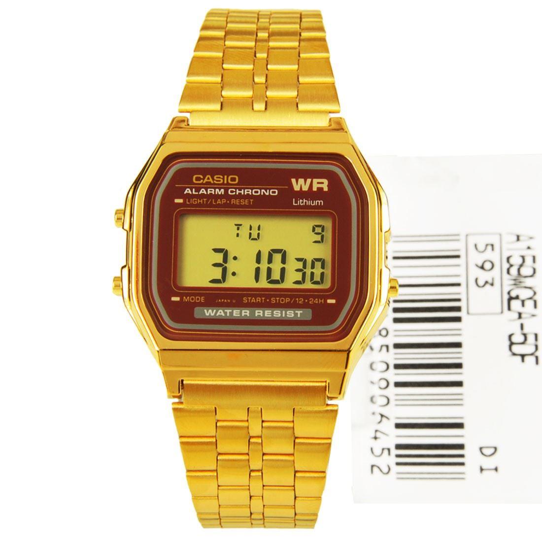 new casio vintage retro digital gold watches a159wgea 5d