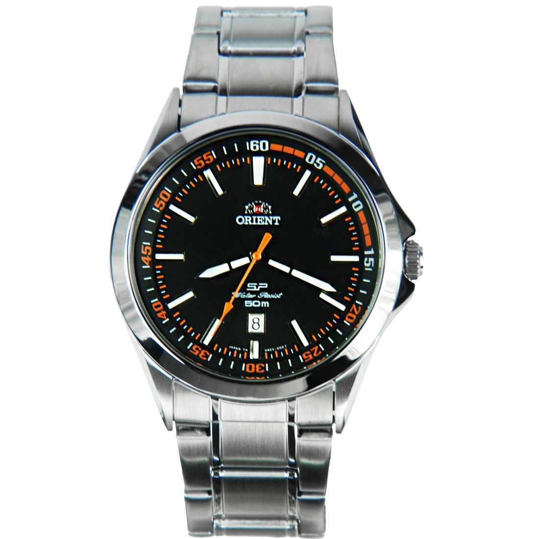 Orient quartz stainless steel mens sports watch unc3001b ebay for Orient watches