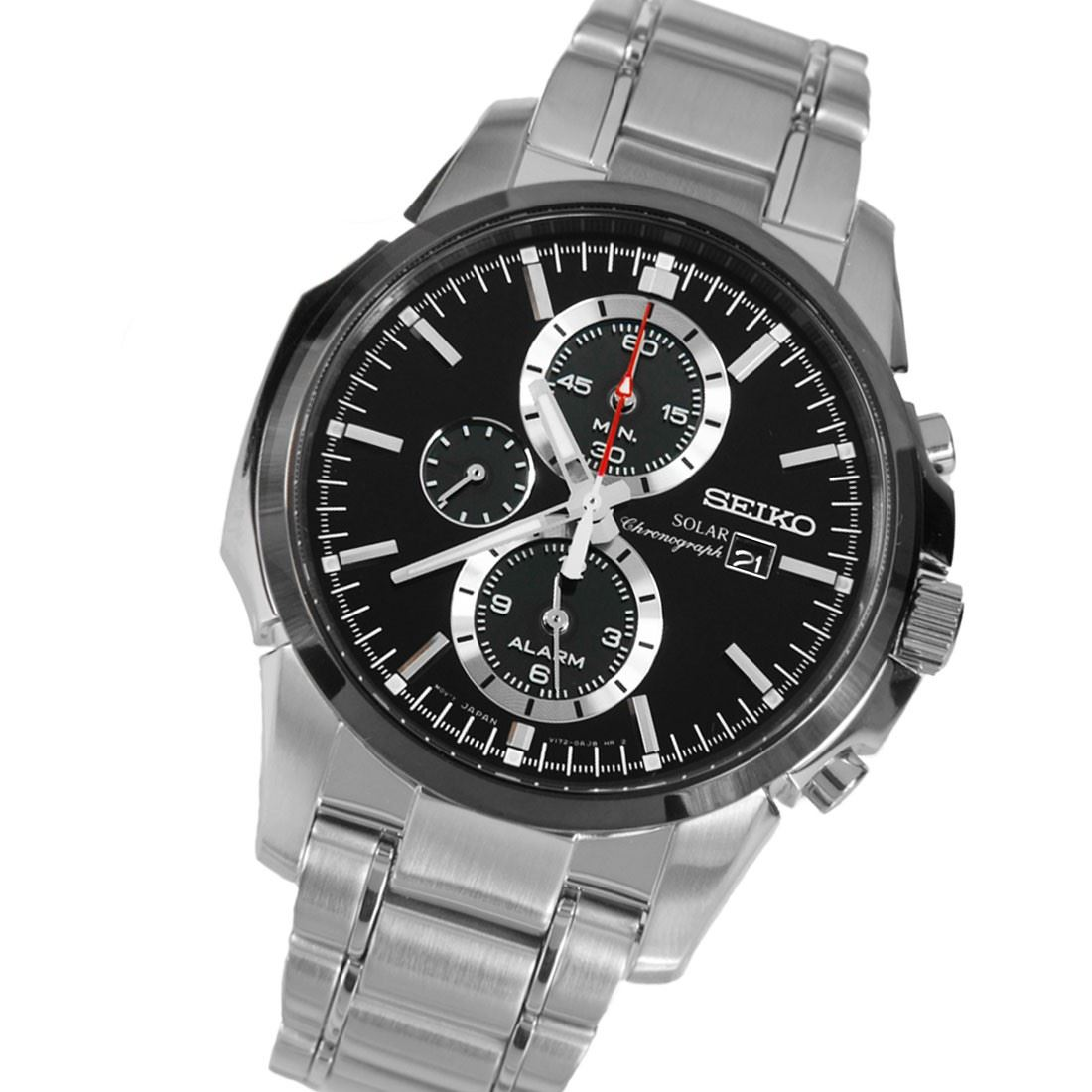 seiko solar chronograph mens watch ssc081p1 ssc083p1. Black Bedroom Furniture Sets. Home Design Ideas