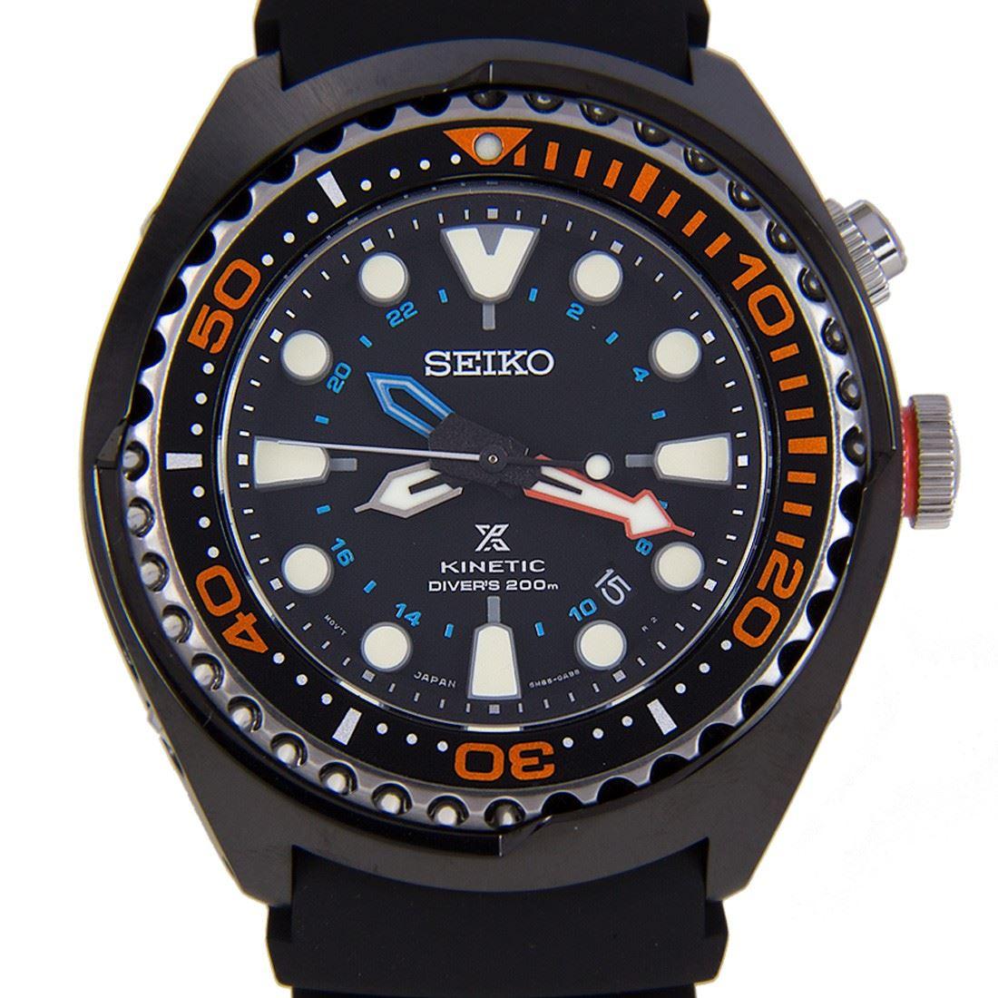 Seiko Prospex Kinetic GMT Diver Watch SUN023P1 SUN023