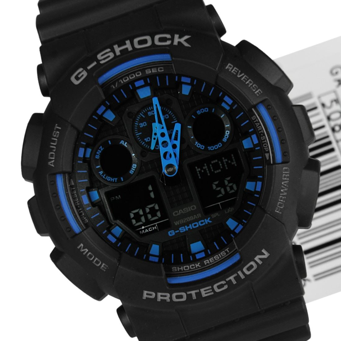 Casio g shock velocity indicator watch ga 100 1a1dr ga 100 1a2dr ga 100 1a4dr ebay for Watches g shock
